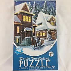Winter Wonderland 500 Piece Puzzle Horse and Carriage Christmas Sealed #CardinalIndustries