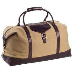 Perfect for a weekend away or traveling for business, this canvas and leather duffel offers ample space for essentials and souvenirs.      ...