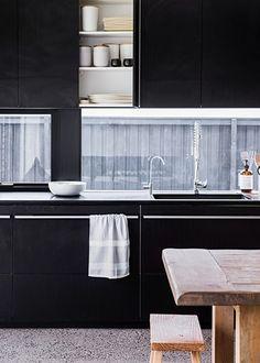 Home inspiration: polished yet understated - Homes, Bathroom, Kitchen & Outdoor Home Kitchens, Contemporary, Bathroom, Monochrome, Kitchen Ideas, House, Australia, Interiors, Magazine