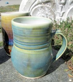 Handthrown Mug Turquoise Green by sierraclayart on Etsy $18 - South Lake Tahoe Artist