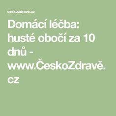 Domácí léčba: husté obočí za 10 dnů - www.ČeskoZdravě.cz
