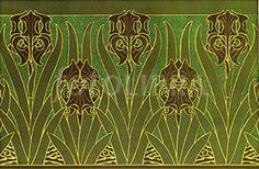 French Art Nouveau Wallpaper Border