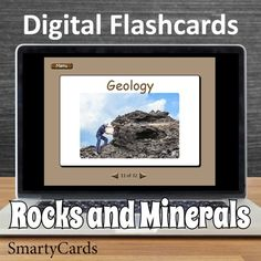 Rocks and minerals interactive flashcards for classroom learning. PDF file works with Smartboard. Interactive Whiteboard, Interactive Learning, Science Resources, Learning Resources, Computer Games For Kids, Australian Curriculum, Rocks And Minerals, Geology, Printable Flashcards