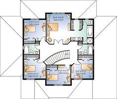 Florida House Plan 64984 Level Two