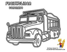 semi truck coloring pages.html