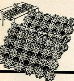 4905 Vintage Tatting PATTERN for Tatted table by BlondiesSpot, $1.99
