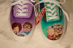 Disney movie UP custom shoes Disney Movie Up, Disney Pixar Up, I Fall In Love, Falling In Love, Hand Painted Shoes, Custom Shoes, I Got This, Me Too Shoes, Shopping