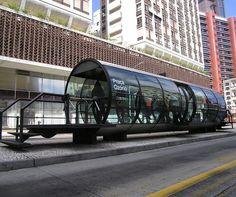 cool bus stop design!