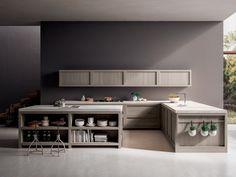 Küche aus massivem Holz mit Kücheninsel LEGNO VIVO 2.6 by GD Arredamenti Design Roberto Pezzetta