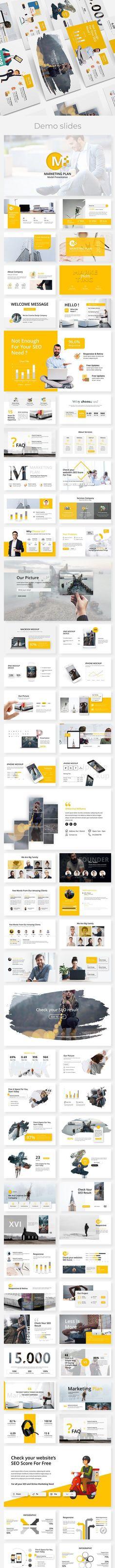 Business Presentation Templates, Presentation Design, Slide Template, Broken Images, Creative Visualization, Company Profile, Marketing Plan, Keynote Template, Flyer Design
