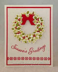 SHARING CREATIVITY and COMPANY: Holiday Catalog Sneak Peek: Wonderous Wreath