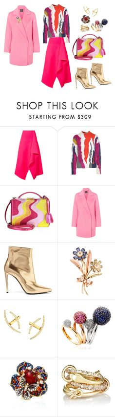 """""""#2256"""" by lovelyfranckie ❤ liked on Polyvore featuring Dion Lee, Kenzo, Mark Cross, Theory, Balenciaga, Tiffany & Co., Lana, Astley Clarke, Anabela Chan and Mask"""