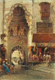 View Cairo By Nikolai Yegorovich Makovsky; 56 x 38 cm; Access more artwork lots and estimated & realized auction prices on MutualArt. Empire Ottoman, Middle Eastern Art, Arabian Art, Islamic Paintings, Islamic Art Calligraphy, Great Paintings, Classical Art, Egyptian Art, Renoir