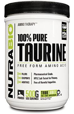 NutraBio 100 Pure Taurine Powder  500 Grams -- More info could be found at the image url.