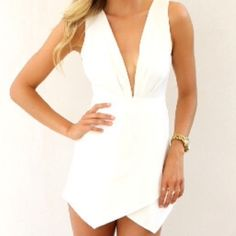 White Angel Romper Never worn Pants Jumpsuits & Rompers