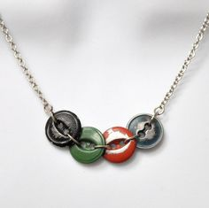 vintage work clothes button jewelry | vintage button necklace | cool stuff