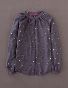 Autumn Preview @BodenClothing: Paris Blouse Coal Sparrow. I'm loving the bird theme running through the Boden Autumn range.