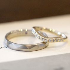 K18WG,K18YG,ダイヤモンド,パープルサファイヤ / marriage ring  gold diamond 結婚指輪 wedding ウエディング