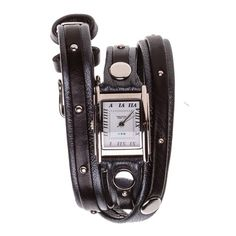 Exclusive! La Mer Gunmetal Wrap Watch $96 Refinery 29, Virtual Closet, Cool Gifts, Clothing Ideas, Gift Guide, Black Silver, Fashion Accessories, Arm, Candy