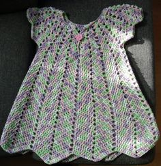 crochet vestido vestido del bebé 74-86