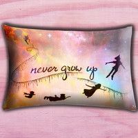 """Disney New Peter Pan Quote Pillow Cover, Pillow case, Throw Bed Bedroom, Size 30"""" x 20"""""""