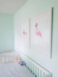 Framebridge - Custom Framing Online - Save with code Princess Nursery, Girl Nursery, Baby Bedroom, Girls Bedroom, Custom Frames Online, Flamingo Nursery, Nursery Themes, Nursery Ideas, Mint Walls