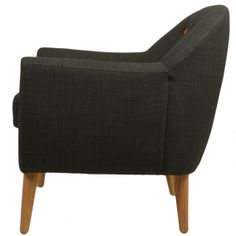 Fauteuil design gris anthracite Karl