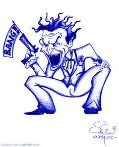 Joker kicks off Week with a bang. Batman Humor, Jokes And Riddles, Catwoman, Hedgehog, Kicks, Joker, Gallery, Cats, Fictional Characters