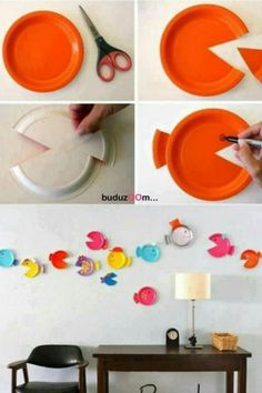 Paper plate project/fish