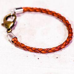 Archer Heights Bracelet in Natural Calfskin, 7 3/4 Inch, Men's or Women's — Sample Sale