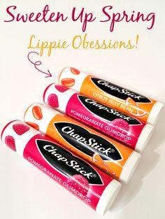 Chapstick Spring Flavors: Sweeten Up Spring!  via www.hairsprayandhighheels.com