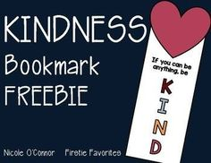 We love completing Random Acts of Kindness in our classroom! Create these fun kindness bookmarks and hide them in the school library for other students to find. Make a bookmark and give it to a friend! So many possibilities!Enjoy this simple free resource!