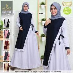 Pusat Grosir Baju Wanita | Baju Gamis Remaja Muslim, Couture, Navy, Model, Surabaya, Jakarta, Dresses, Fashion, Hale Navy
