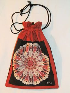 Nature Mandala Drawstring Bag with Cattail by Allenx2PhotoandCraft, $20.00