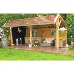 Home - Jumbowood Hot Tub Gazebo, Backyard Gazebo, Garden Gazebo, Backyard Patio Designs, Backyard Retreat, Outdoor Buildings, Garden Buildings, Cinder Block House, Garden Bar Shed