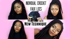 Individual Crochet Faux Locs Tutorial | NEW Method! NO CORNROWS! Easy Go...