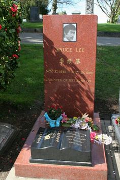 Bruce Lee | Martial Artist, Actor, and Director | Birth: November 27, 1940 | Death: July 20, 1973 | Cause of Death: Cerebral Edema | Burial: Lake View Cemetery, Seattle, Washington | Plot: 276, Grave 3