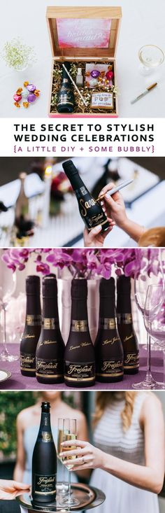 The Secret to Stylish Wedding Celebrations with a little DIY + some bubbly