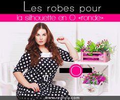 Robes pour morphologie et silhouette en O, ronde ou pomme Mode Femmes  Rondes, Mode da7c274d981