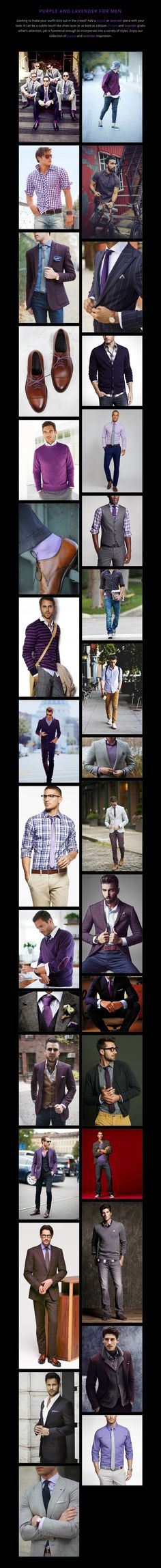 PURPLE AND LAVENDER FOR MEN