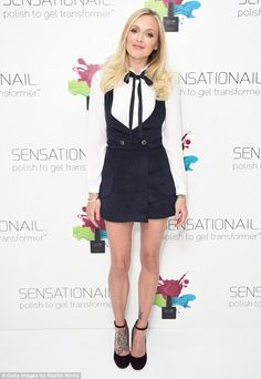 Back to work: Fearne Cotton was a stylish as ever on Wednesday as she stepped out in Londo...