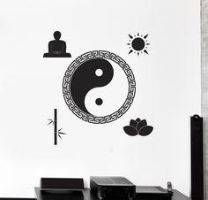 Vinyl Wall Decal Yin Yang Buddha Zen Meditation Room Stickers (ig4480)