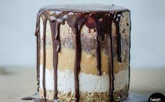 Raw Snickers Cake [Vegan, Gluten-Free] | One Green Planet