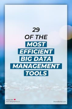 These tools can make the entire process of managing your data easier. You can handle your big data, and these software solutions may offer analytics as well. #data #datascience #machinelearning #deeplearning #AI #bigdata #analytics #technology #business