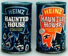 Heinz vintage Haunted House canned spaghetti pasta retro Halloween spooky food Halloween Retro Halloween, Holidays Halloween, Halloween Treats, Happy Halloween, Halloween Decorations, Haunted Halloween, Halloween Horror, Halloween Makeup, 1980s Childhood