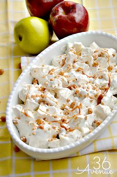 Apple Salad Recipe with Caramel and Toffee Bits Dressing. Perfect for Easter dinner! #yearofcelebrations #easter