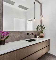 Platinum Stone - Bathroom   SØKTAS Bathroom Pendant Lighting, Bathroom Mirror Lights, Powder Room Design, Stone Bathroom, Master Bathrooms, Family Bathroom, Bathroom Interior Design, Luxurious Bedrooms, Restaurant