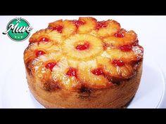 Torta o volteado de piña súper esponjosa y fácil | Muve Flavors - YouTube Cupcake Cakes, Cupcakes, Homemade Cake Recipes, Vegan Desserts, Cheesecakes, Pineapple, Tasty, Snacks, Muffin