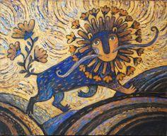 Просмотреть иллюстрацию Лев идёт — мир цветёт из сообщества русскоязычных художников автора Герасимова Дарья в стилях: Живопись, нарисованная техниками: Масло.