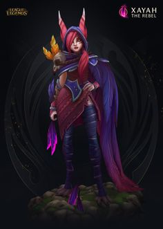 ArtStation - Xayah the Rebel - Ingame model, Daniel Orive